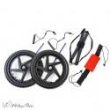 Kit de roues complet pour chariot Walkin Wheels mikan